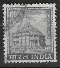 India stamp shows Somnath Temple architecture - see scan