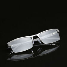 Mens Eyeglasses Rectangular Metal Frame Business Reading Glasses Readers 1.0~4.0
