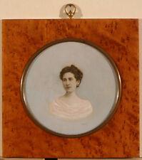 '' Portrait photographique d'une femme '', vers 1900 - médaillon circulaire