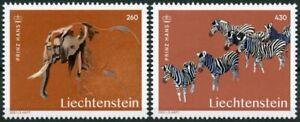 Liechtenstein 2021 MNH Art Stamps Prince Hans Artists Zebras Elephants 2v Set