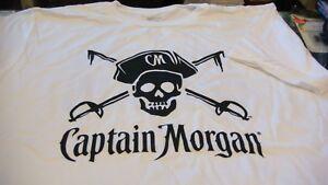 Captain morgan rum T- shirt new captain morgan white rum  ~ ~ SIZE L  T SHIRT