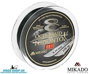 MIKADO ''8 OCTA BRAID NIHONTO''150 METERS FISHING BRAID LINE, VARIETY DIAMETERS