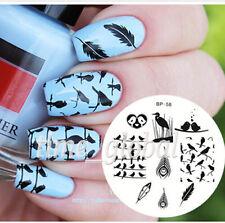 Nagel Schablone Nail Art Stamp Stempel Template Plates BORN PRETTY BP58