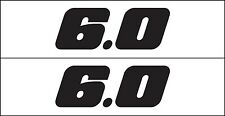 MG 2348 6.0 Liter GM Performance Engine Decal