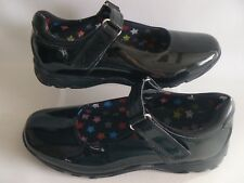 HUSH PUPPIES Louise Black Patent Leather Shoes JNR Girls Size 2