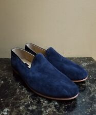 NWOB Res Ipsa Men's Slip on Loafers Driver Shoes Blue Suede Size 12 RT $330