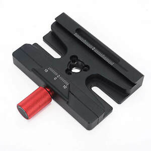 Adapter Clamp for Arca-Swiss Fit Manfrotto Gitzo Quick Release Plate Tripod Head