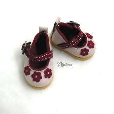 Yo-SD 1/6 Bjd Dollfie Leeke Doll Velvet Flower Shoes Pink ~~~ SHIP Worldwide ~~~