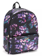 NWT 1 VICTORIA'S SECRET MIDNIGHT BLOOMS MINI CITY BACKPACK FLORAL PYTHON BAG