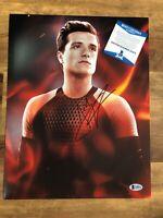 Josh Hutcherson Signed 11x14 Autographed Photo Hunger Games Beckett Auth BAS COA