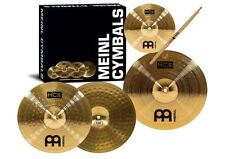Cymbal Set Pack Splash 14-Inch Crash 13-Inch Hi Hats Drum Stick FREE Sticks NEW