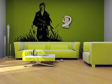 Wall Vinyl Sticker Decals Mural Room Design Art Japanese Samurai Warrior bo639