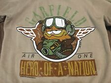 True Vintage Garfield The Cat Medium Hero Of A Nation Pilot Medium Sweatshirt