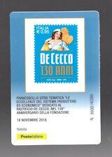 ITALIA : Tessera Fil. - 130°della fondazione del Pastifico De Cecco - 18.11.2016