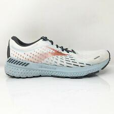 Brooks Womens Adrenaline GTS 21 1203291B193 White Running Shoes Size 9.5 B