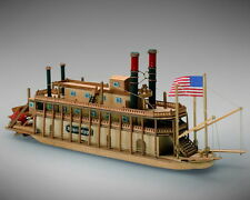 "Beautiful, Mini Wooden Model Ship Kit by Mamoli: the ""Mississippi"""