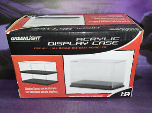 Acrylic Display Case For 1:64 Scale Die-cast Vehicles Green Light NEW