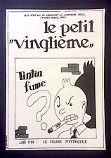Carte pastiche Tintin - Le Petit Vingtième - Bachi Bouzouks, 1987 d'après Hergé