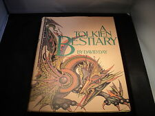 A Tolkien Bestiary - by David Day - REPRINT 1986 - huge hardback book - T7