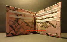 Handmade Duct Tape Wallet with Realtree Hardwoods Pink Camo