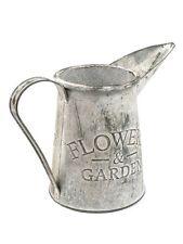 15cm Weathered Metal Jug - Decorative Home & Garden Ornament Artificial Planter