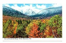 White Mountains New Hampshire Postcard Part of Presidential Range Fall Leaves