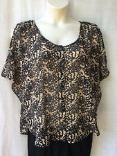 Jeanswest Womens Size 12 Top Shirt Blouse Animal Print Casual Evening Party