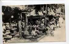 (Gq730-407) Real Photo of Borella Market Stall, Colombo, CEYLON 1950 Used VG-EX