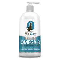 Wild 4 Dogs Premium Omega 3 Fish Oil - Healthy Coat, Skin, Heart, and Joints
