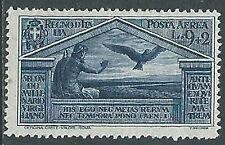 1930 REGNO POSTA AEREA VIRGILIO 9 LIRE MH * - Y066-5
