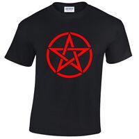Pentagram T-Shirt Mens S-5XL goth rock punk metal gothic biker satanic red