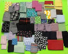 Huge Lot Cotton Quilting Sewing Fabric Lot Large Remnants & Squares 8lbs.+ NEW!