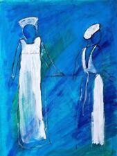 Blue Art Figures