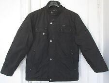 Retreat Men's Black Winter Coat Jacket Zipper Hood Many Pockets Size L 42-44