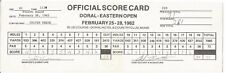 1982 Doral-Eastern scorecard signed Jack Nicklaus NOT Authenticated but GTP!!!