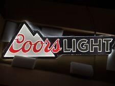 "COORS LIGHT BEER SIGN LED LIGHT BAR MAN CAVE PUB 40"" X 13.5"" NEW"