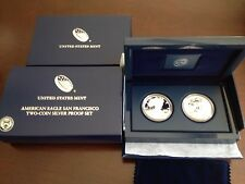 4 (Four) 2012 AMERICAN EAGLE SAN FRANCISCO 2-COIN SILVER PROOF SETS