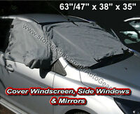 Car Windscreen Windows Mirror Front & Side Frost Snow Ice & Dust Protector Cover