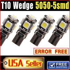 4 X White Canbus Error Free T10 LED 5-smd Wedge Light Bulb W5W 194 168 2825 501