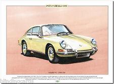 PORSCHE 911 (1963-68) Lámina Artística - A3 Tamaño Película Coche deportivo