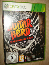 GIOCO XBOX 360 GUITAR HERO WARRIORS OF ROCK COMPLETAMENTE IN ITALIANO X BOX