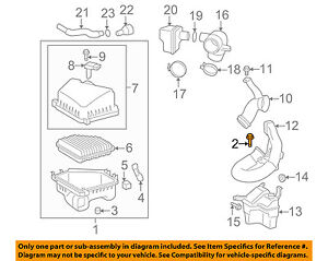Pontiac GM OEM 09-10 Vibe Air Cleaner Intake-Box Housing Assy Bolt 88973512