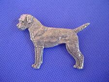 Border Terrier Standing Pin #73A Pewter Dog Jewelry by Cindy A. Conter