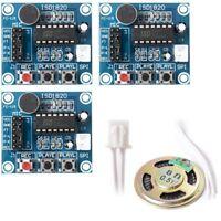3 piezas ISD1820 sonido grabacion de voz modulo de reproduccion Microfono A D6H3