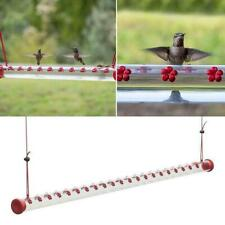 New listing Best Hummingbird Feeder With Hole Birds Feeding Transparent Pipe Outdoor Y2T0