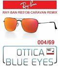Occhiale da Sole RAYBAN RB3136 004/69 CARAVAN REMIX Sunglasses Ray Ban GUNMETAL