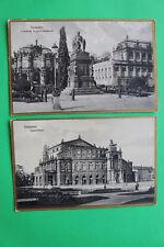 Sachsen 2 AK Dresden 1910-25 Opernhaus Friedrich August Denkmal Gebäude Straße +