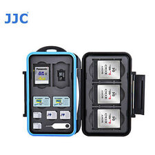 JJC MC-STMQ13 Memory Card Case fits 2 SD 3 XQD 2 MSD 2 SIM 2 Micro SIM 2 camera