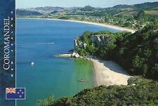 COOKS BEACH COROMANDEL NEW ZEALAND POSTCARD -MERCURY BAY from SHAKESPEARE CLIFFS