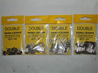 Double Mono Crimps 4 Sizes Available - Sea or Coarse Fishing